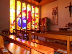 Sunlight Invades the day chapel.