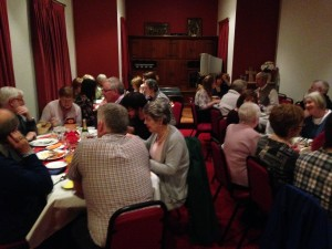 Some of the Clonard community enjoys Thanksgiving dinner at Fr. Denis' home.