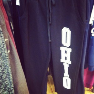 "Because who in Ireland wouldn't love to wear ""OHIO"" sweatpants?"